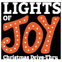 lights of joy christmas drive-thru logo